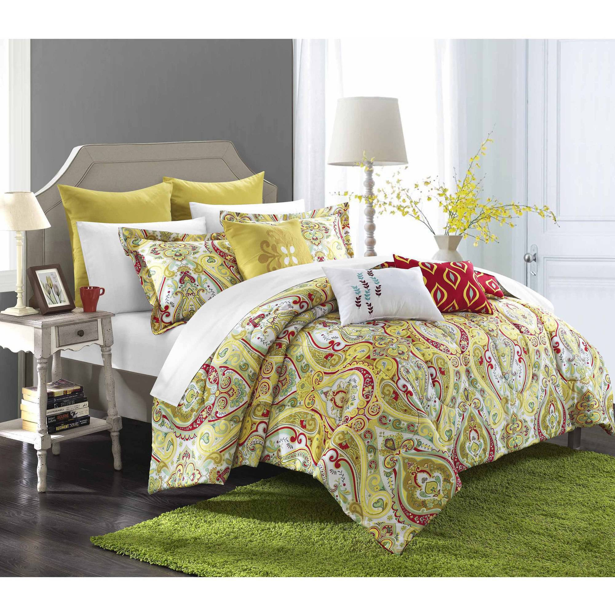 Chic Home Paisley Global Inspi 12-Piece Bombay Reversible Comforter Set