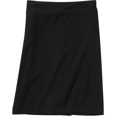 George Women's Plus-Size Think Slim Tummy Slimming Pencil Skirt with Power Mesh Liner