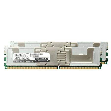 4GB 2X2GB Memory RAM For Intel Server System SR1560SFHS DDR2 FBDIMM 240pin PC2 6400 800MHz Black Diamond Module Upgrade