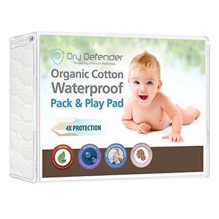 Organic Cotton Waterproof Pack N Play Crib Pad Natural