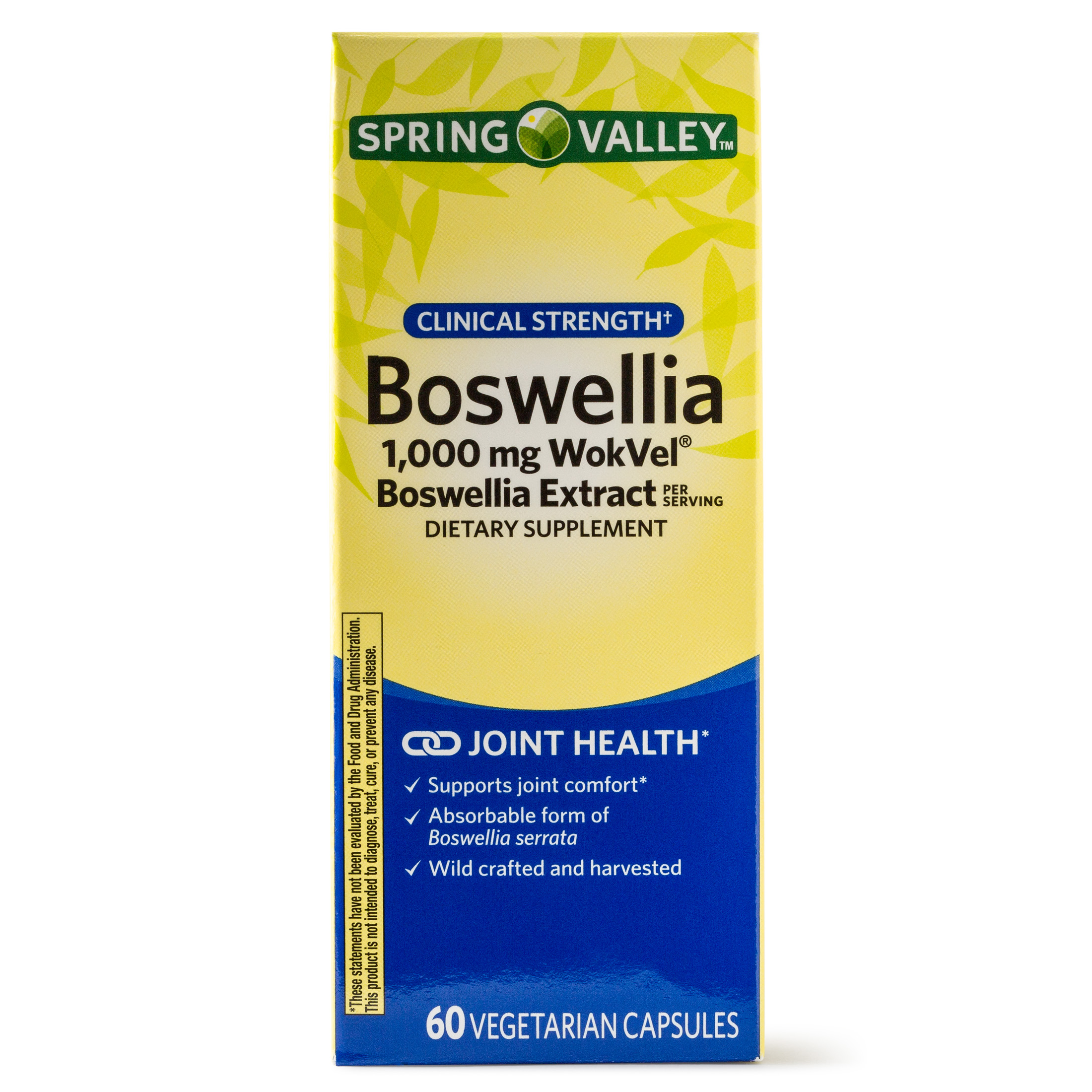 Spring Valley Boswellia Dietary Supplement, 1000mg, 60 Ct