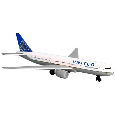 United Airlines 777 airplane toy plane, RT6266, Officially licensed by the airline By Daron ()