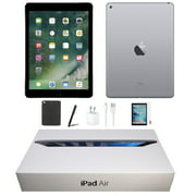 Apple iPad Air 16GB Space Gray Wi-Fi Only Bundle: Tempered Glass, Case, Charger & Stylus Pen Comes in Original Packaging! Refurbished