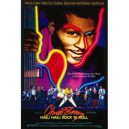 Chuck Berry Hail  Hail  Rock N Roll  1987  27X40 Movie Poster