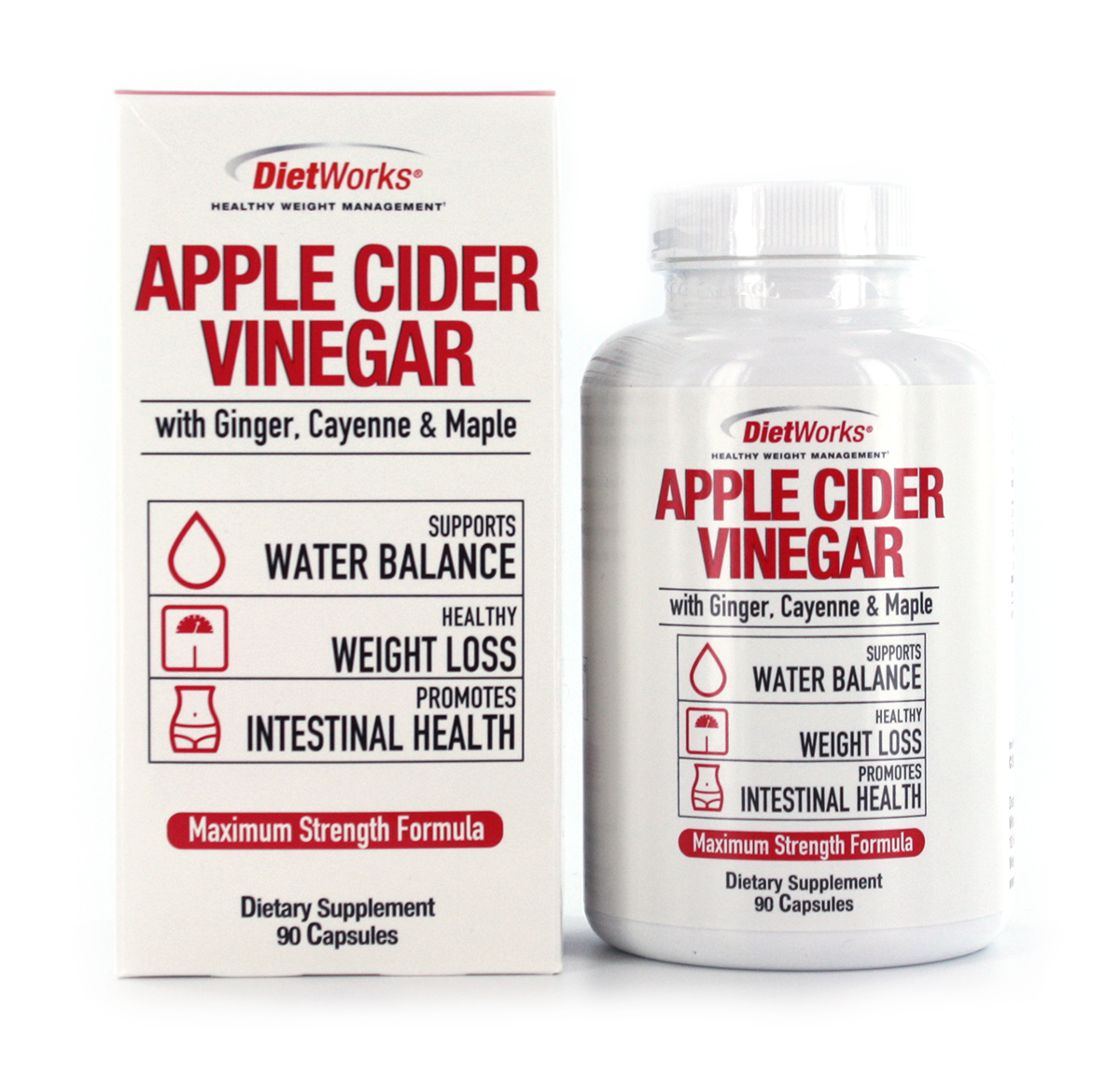 DietWorks Apple Cider Vinegar Dietary Supplement, 90