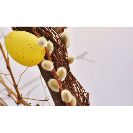 LAMINATED POSTER Easter Egg Spring Color Easter Pussy Willow Poster Print 24 x 36 ()