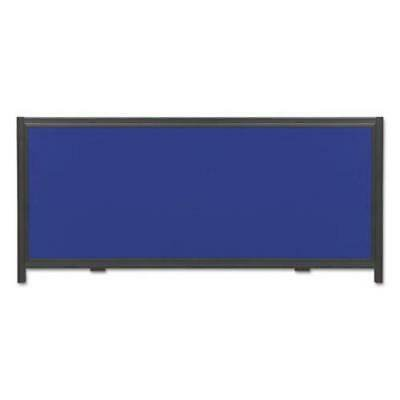 Display System Optional Header Panel, Blue/Gray/Black PVC - Panel Display System Fabric