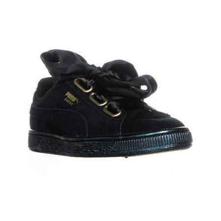 san francisco 7eb85 bfa77 Womens PUMA Suede Heart Fashion Sneakers, Puma Black/Puma Black
