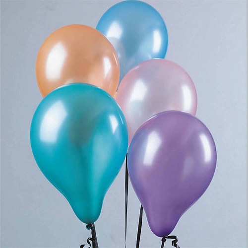 "11"" Pearl-Tone Balloons, Assorted Pastel Colors, Pack of 100"