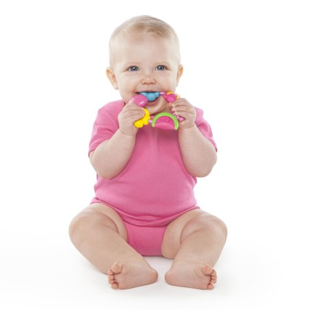 Bright Starts Pretty in Pink Teether, Buggie Bites - Bright Starts Pretty In Pink