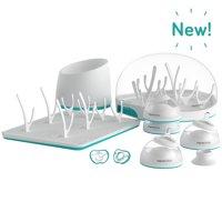 Nanobebe Complete Newborn Baby Bottle Gift Set & Accessories, Teal