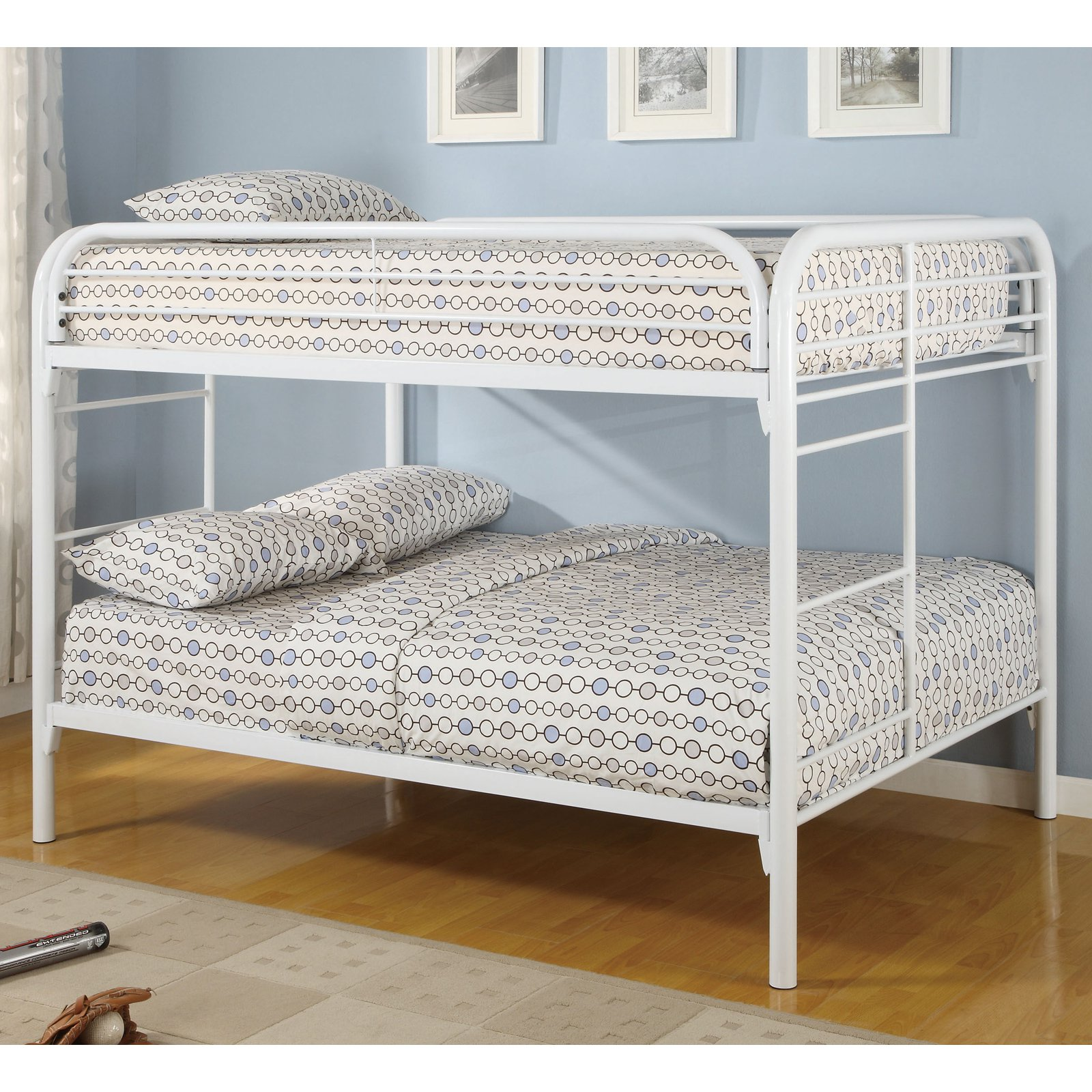 Coaster Full Over Full Metal Bunk Bed White Walmart Com