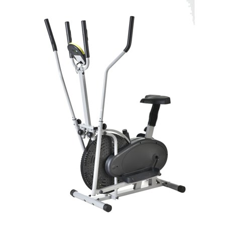 Ktaxon Intelligent Steel Elliptical Cross Trainer & Bike Fitness Equipment A Type Black & Silver