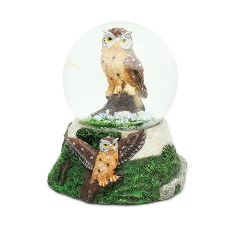 Halloween Vhs Snow Globe (Stone Snow Globe - Owl)