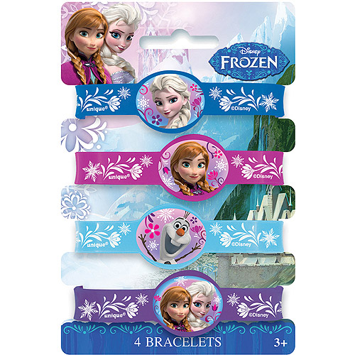 Disney Frozen Rubber Bracelet Party Favors, Assorted, 4ct