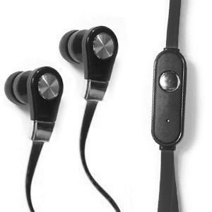 CellularOutfitter Xtreme Bass HD Tangle-Free 3.5mm Stereo Earphones - With In-Line Microphone - Black