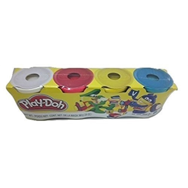 Play-Doh 4 Pack of Colors 20oz. - White, Red, Yellow & Teal
