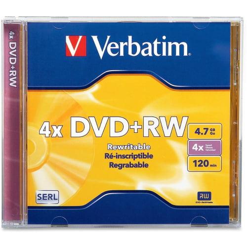 Verbatim DVD+RW 4.7GB 4x Branded Jewel Case