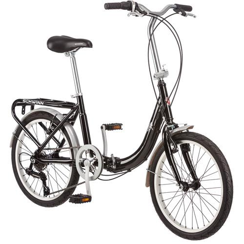 "20"" Schwinn Loop Folding Bike, Black"