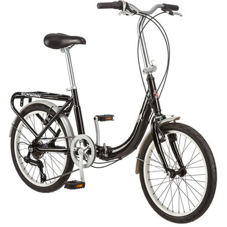"20"" Schwinn Loop Folding Bike, Black"