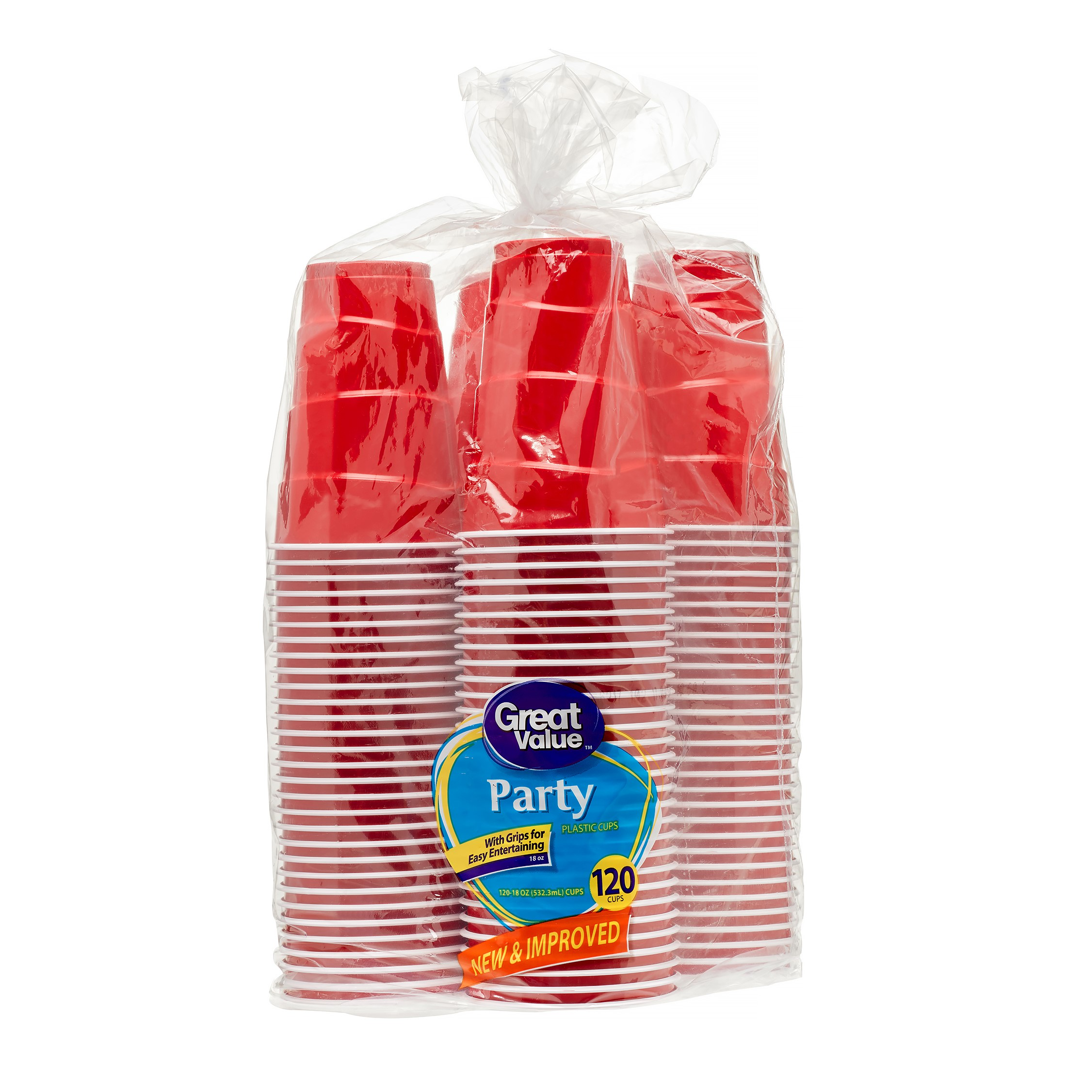Great Value Party Cups, 18 oz, 120 Count