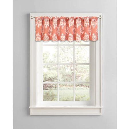 Better homes and gardens traditional damask window valance Better homes and gardens valances for small windows