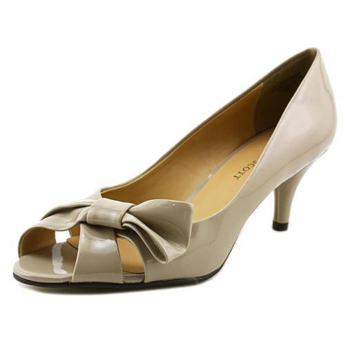 Karen Scott Michell Women US 7 Tan Peep Toe Heels