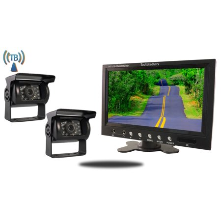Tadibrothers 9 Inch Monitor With 2 Wireless Mounted Rv