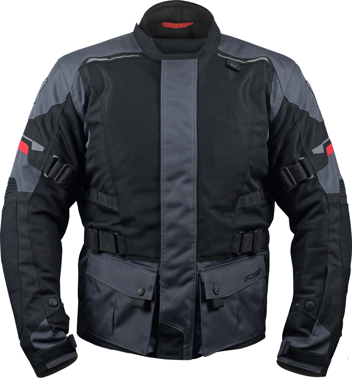 ELIPSOL AIR JACKET MOTORCYCLE ADVENTURE TOURING JACKET - GRAY, S