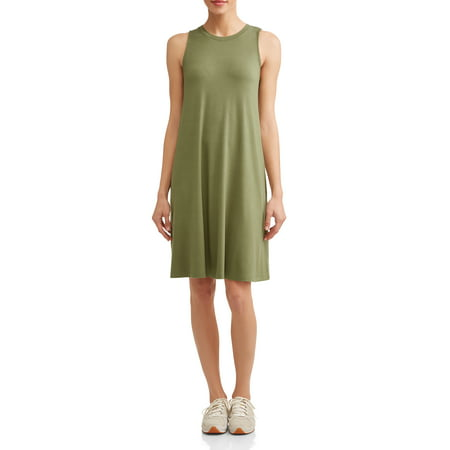 8cd3992c420ed3 Time and Tru - Women s Sleeveless Knit Dress - Walmart.com