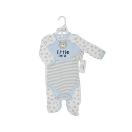 Layette Sleeper, Blue - 3 Piece - Case of 48 - 48 Per Pack - image 1 of 1