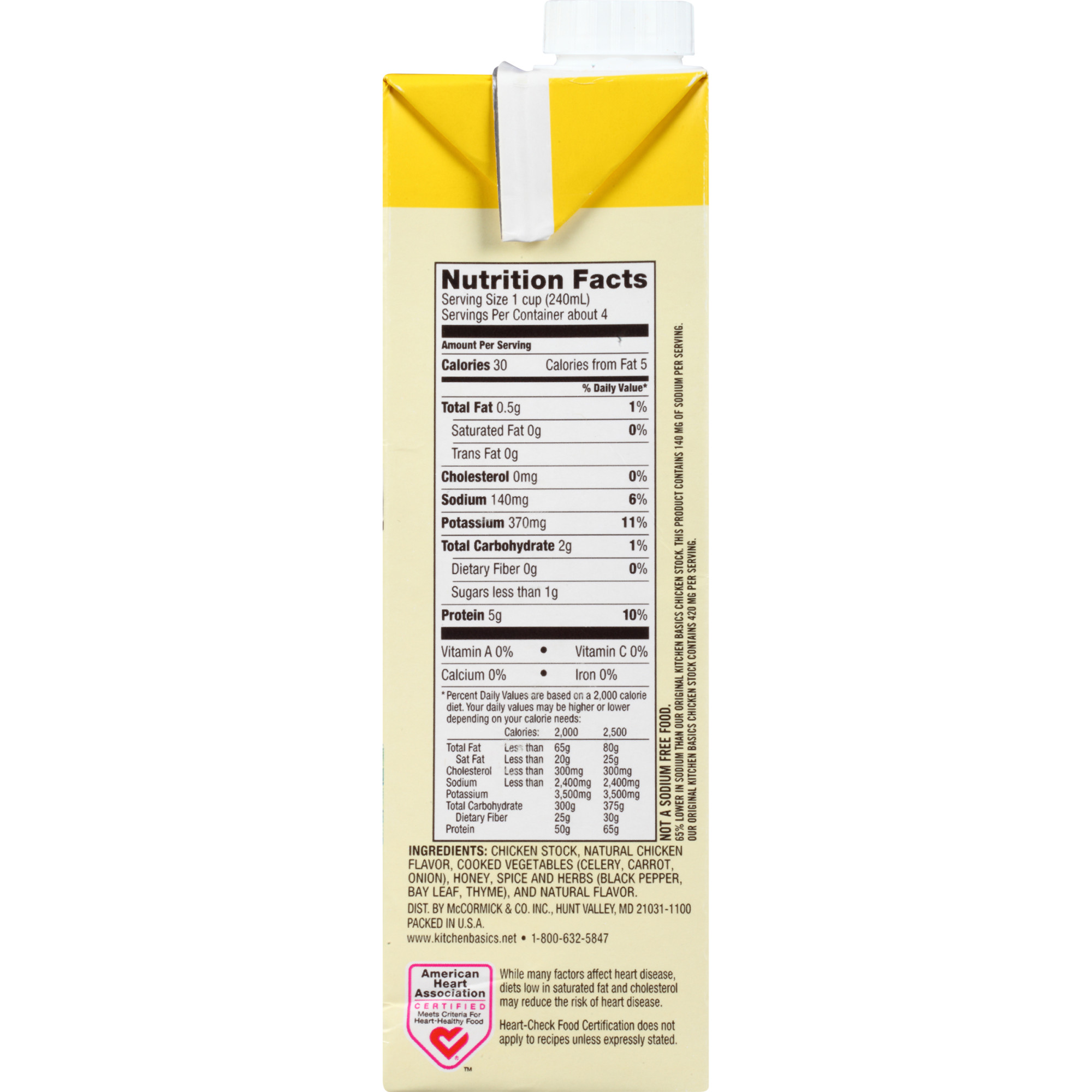 Kitchen Basics All Natural Unsalted Chicken Stock 32 Fl Oz