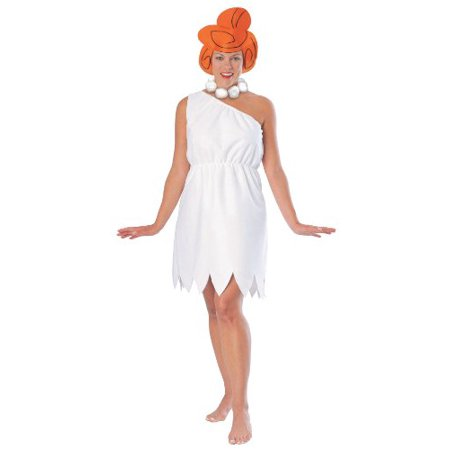 The Flintstones Wilma Flintstone Costume, White, - Adult Wilma Flintstone Costume