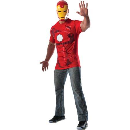 Adult mens marvel comics universe iron man t shirt mask - Masque iron man adulte ...