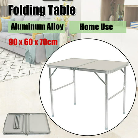 Adjustable Folding Table Desk Indoor Outdoor BBQ Picnic Party Camping Aluminum Alloy Table White](Bbq Table Ideas)