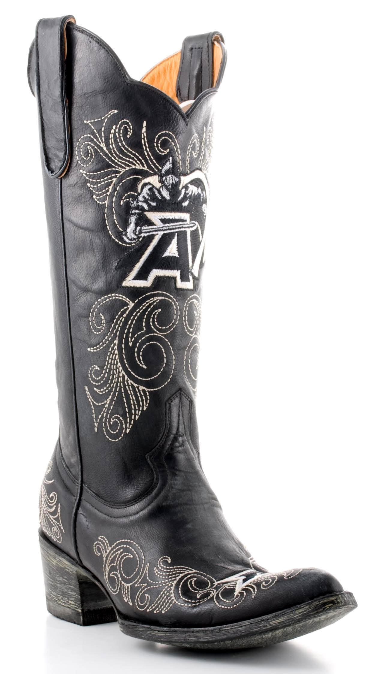 """Gameday Boots Womens 13"""" Tall Leather Army Cowboy Boots ARM-L022 New by GameDay Boots"""