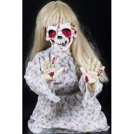Halloween Horror Scary Kneeling Geist Girl Ghost Animatronic Prop - Halloween Animatronics Parts