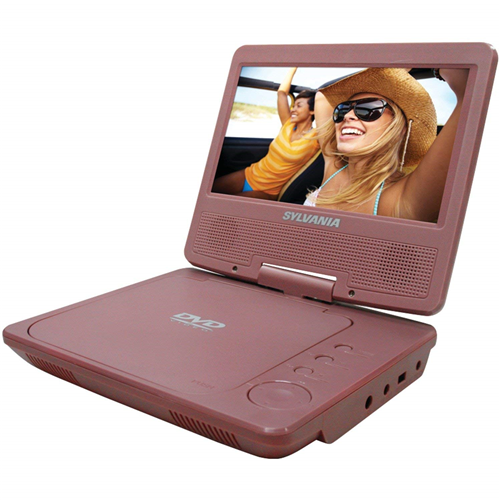 "Sylvania SDVD7014 -PINK 7"" Portable DVD Player, Pink  - Refurbished"