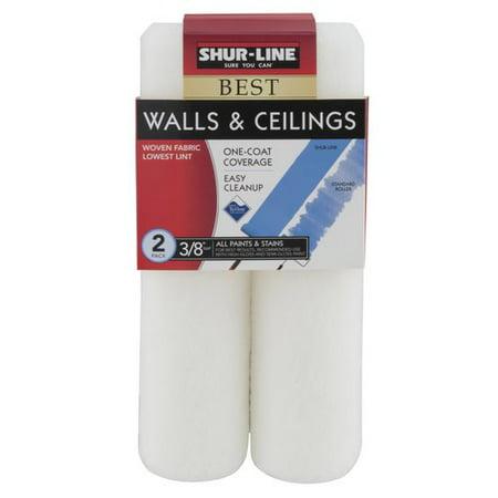 shur line walls ceilings roller cover 3 8 nap 2pk
