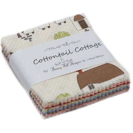 Cottontail Cottage Moda Mini Charm Pack by Bunny Hill Designs; 42 - 2.5