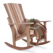 All Things Cedar Athena Adirondack Rocking Chair - Western Red - Partially Assembled