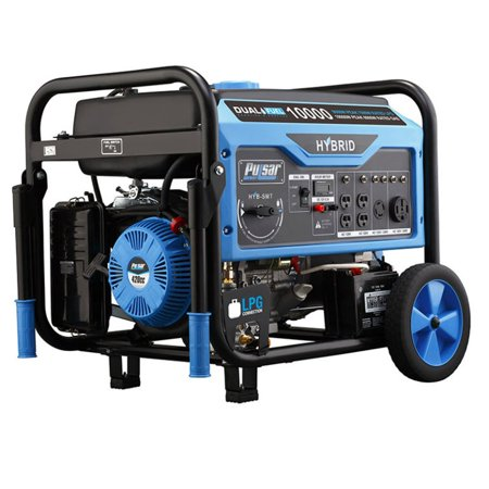 Pulsar 10000 Watt Peak 9000 Watt Rated Portable Gas and Liquid Propane -