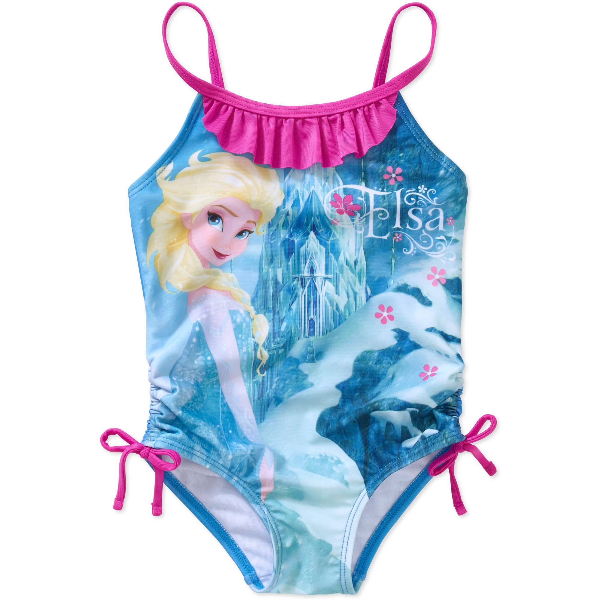 Disney Frozen Elsa Toddler Girl 1-Piece Swimsuit