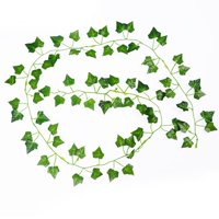 Holiday Clearance 2Pack 2m Creeper Begonia Artificial Ivy Leaf Vine Fake Plants Home Wedding Decor