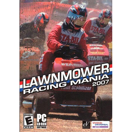 Lawnmower Racing Mania 2007 PC CDRom Game ~ Do you have the mowtivation? Can you cut