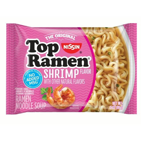 (24 Pack) Nissin Shrimp Flavor Top Ramen Noodles, 3 oz