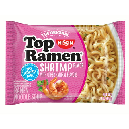 - (24 Pack) Nissin Shrimp Flavor Top Ramen Noodles, 3 oz
