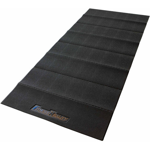 Fitness Reality Water-Resistant PVC Exercise Equipment Mat, Black