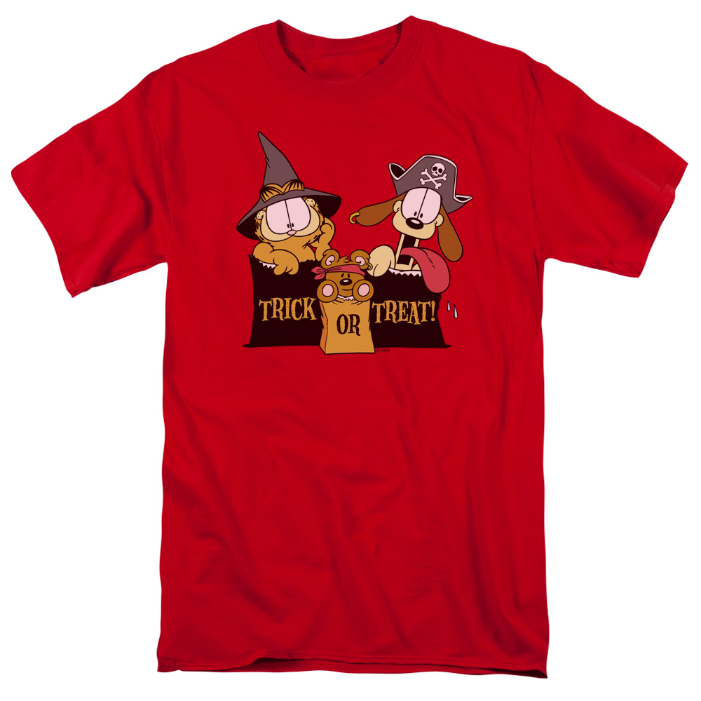 Garfield/Trick Or Treat S/S Adult 18/1   Red     Gar315