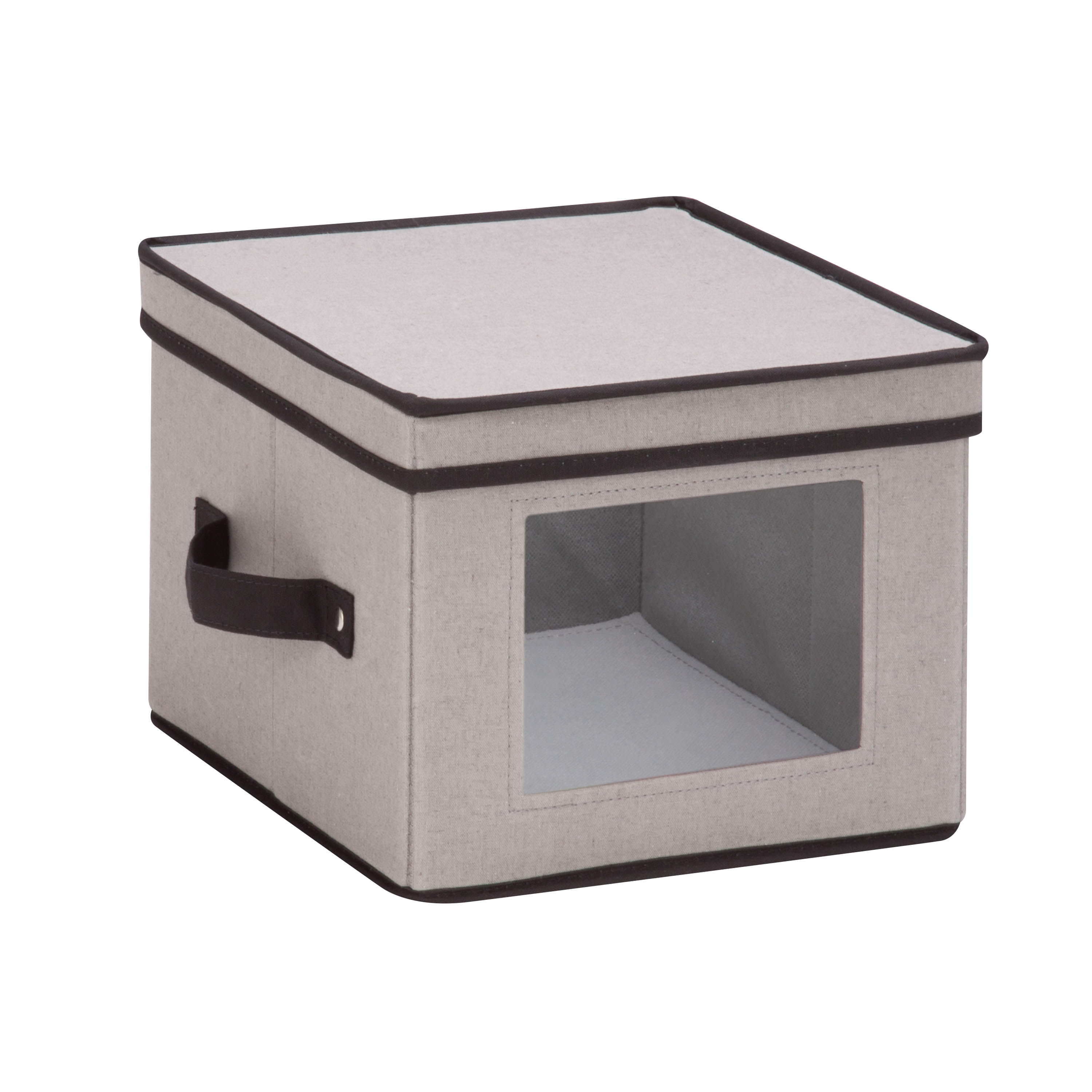 Mainstays Natural Canvas Small Window Storage Box, Gray